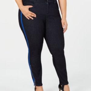 YSJ 18W Dark Wash Skinny Ankle Stirup Jeans B8-01